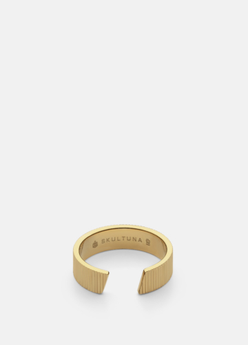 Ribbed Ring Thick - Gold