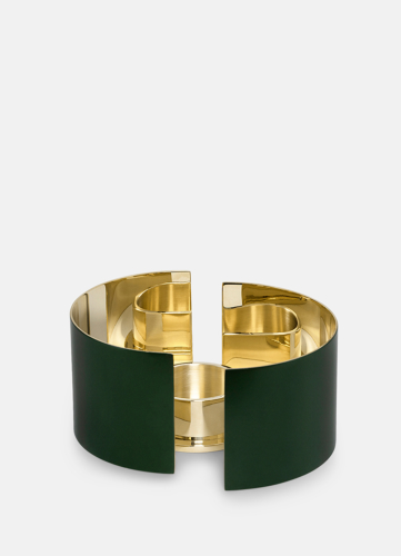 Infinity Candleholder - Small Dark Green