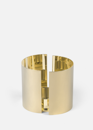Infinity Candleholder - Large Brass