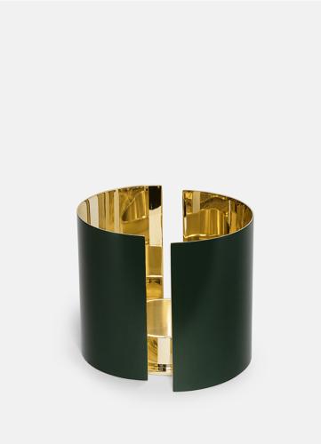 Infinity Candleholder - Large Dark Green