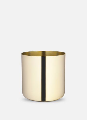Nurture Planter - Large Polished Brass
