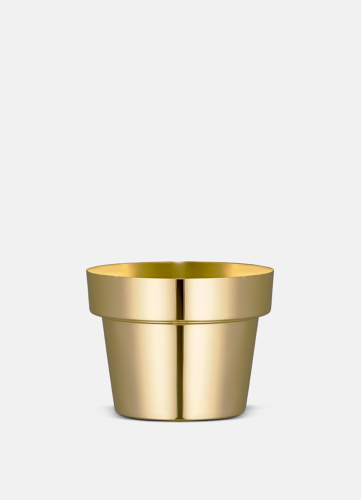 Flower Pot Polished Brass - Extra Small