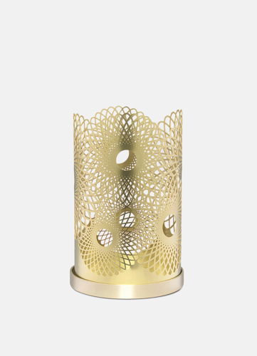Feather Candleholder - Brass