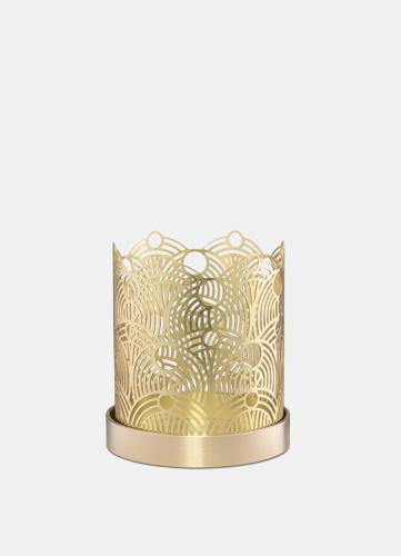 Lunar Small Candleholder - Brass