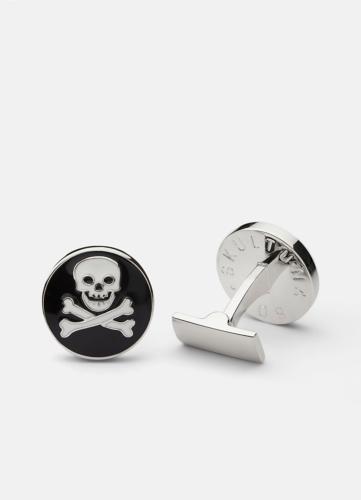 Skull & Bones Cuff - Black