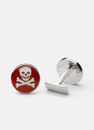 Skull & Bones Cuff - Red