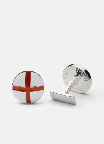 St Georges Cross Silver - White & Red