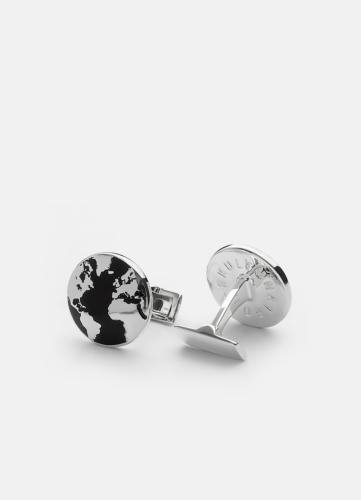 The World Cuff Silver - Black