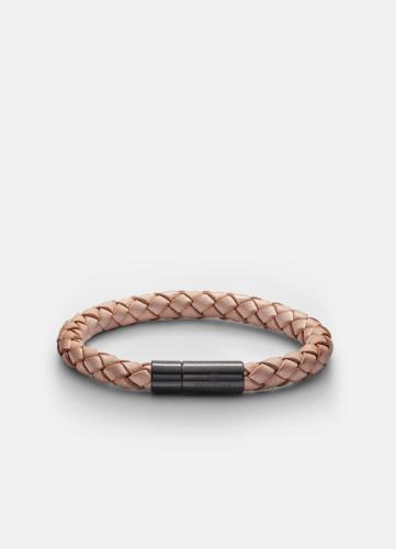 Leather Bracelet Black - Natural