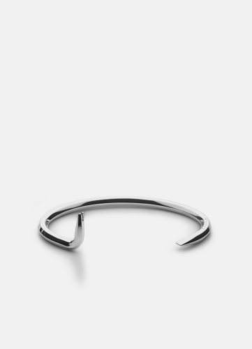 Crowbar Bangle - Polished Steel