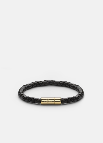 Leather Bracelet Gold - Black