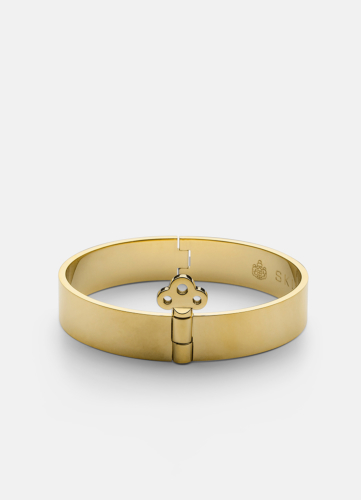 Bangle with Key Lock - Gold