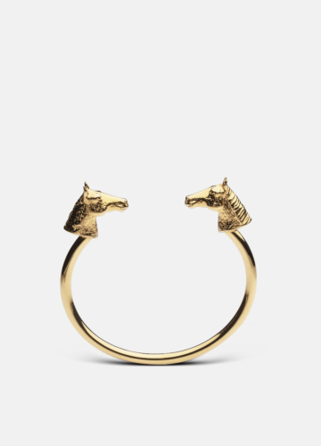 Horse Bangle - Gold Plated