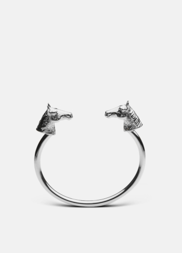 Horse Bangle - Polished Steel