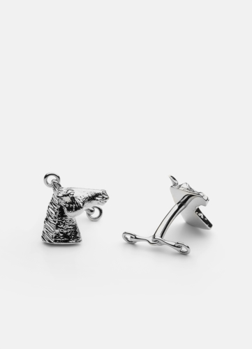 GTG Horse Cufflink - Polished Steel