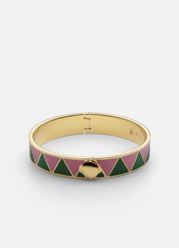 GTG Enamel Bracelet - Green & Peach