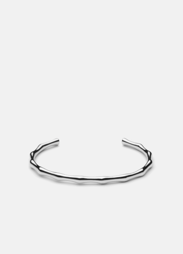 Bambou Bangle - Polished Steel