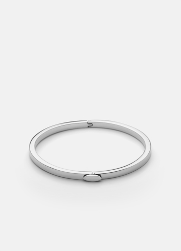 Eternal Bangle Thin - Polished Steel