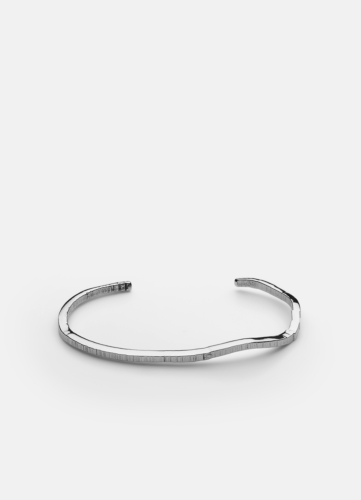 Chêne Raw Cuff - Polished Steel
