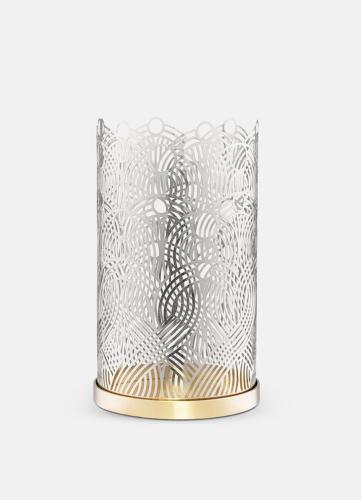 Lunar Large Candleholder - Silver