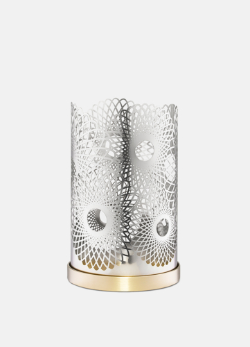 Feather Candleholder - Silver