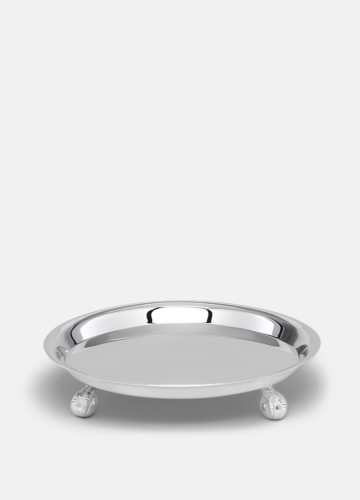 Clawfooted Tray Silver - Large