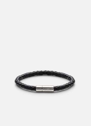 Leather Bracelet Silver - Black