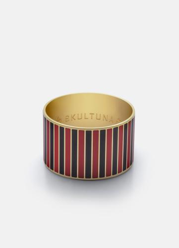 Stripe Bangle - Black & Red