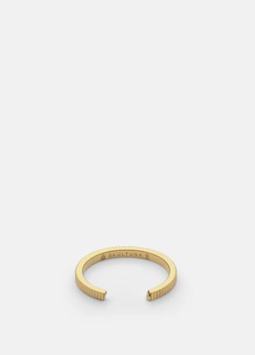 Ribbed Ring Thin - Gold