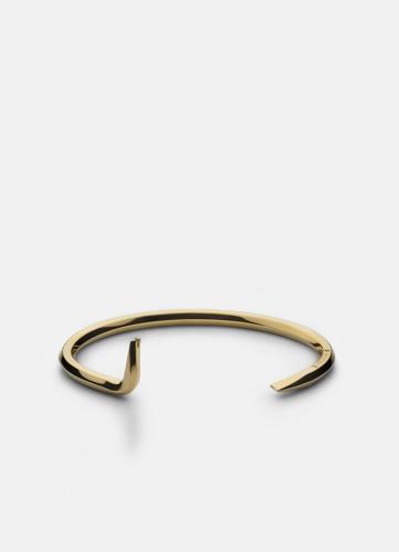 Crowbar Bangle - Gold Plated
