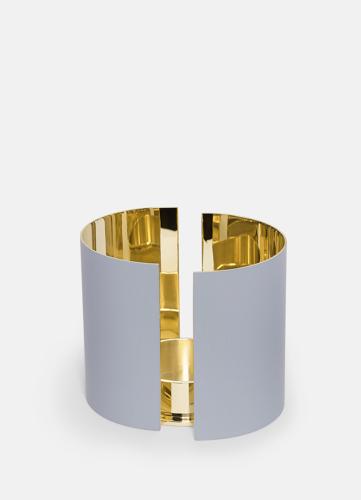 Infinity Ljushållare - Stor Ljusgrå