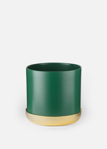 Nurture Planter - Stor Grön med Fat
