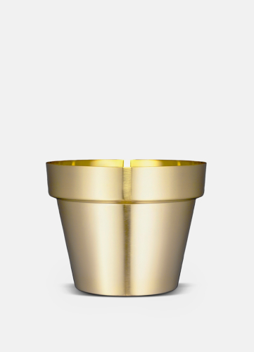 Flower Pot Brushed Brass - Medium