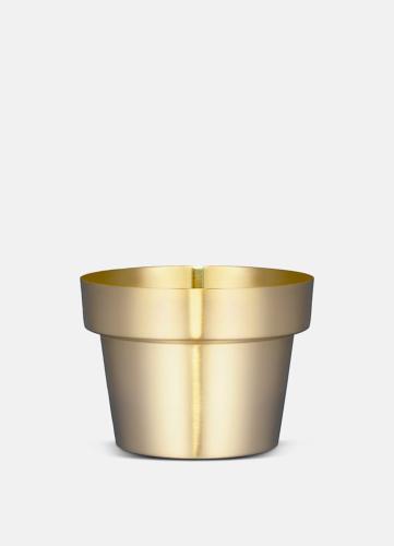 Flower Pot Borstad Mässing - Liten