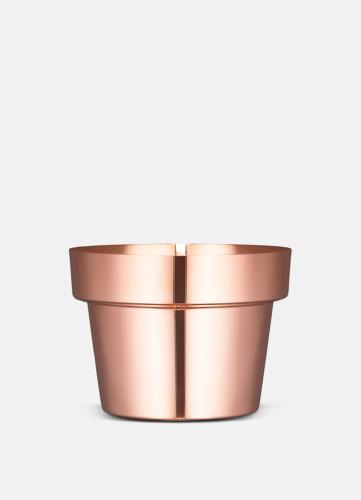 Flower Pot Polerad Koppar - Liten