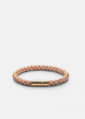 Leather Bracelet Medium Gold - Natural