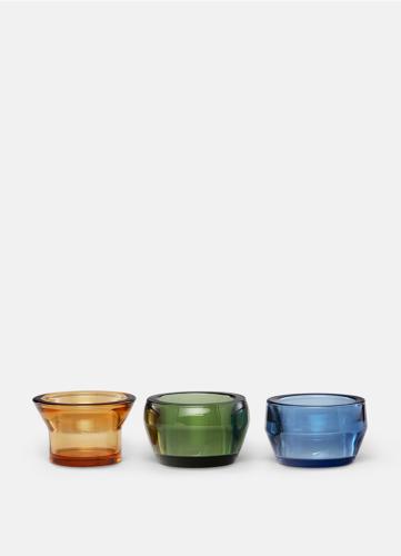Kin Glas - Set om 3 - Gul, Grön & Blå