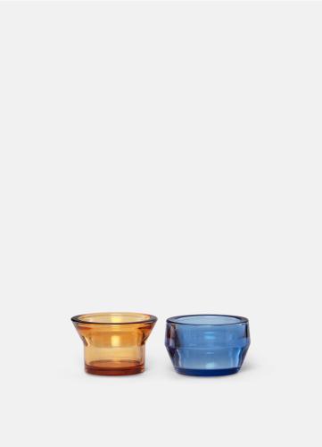 Kin Glas - Set om 2 - Gul & Blå