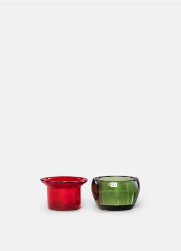 Kin Glas - Set om 2 - Röd & Grön