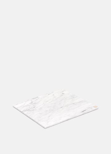 Carrara Vit Marmorplatta - Stor