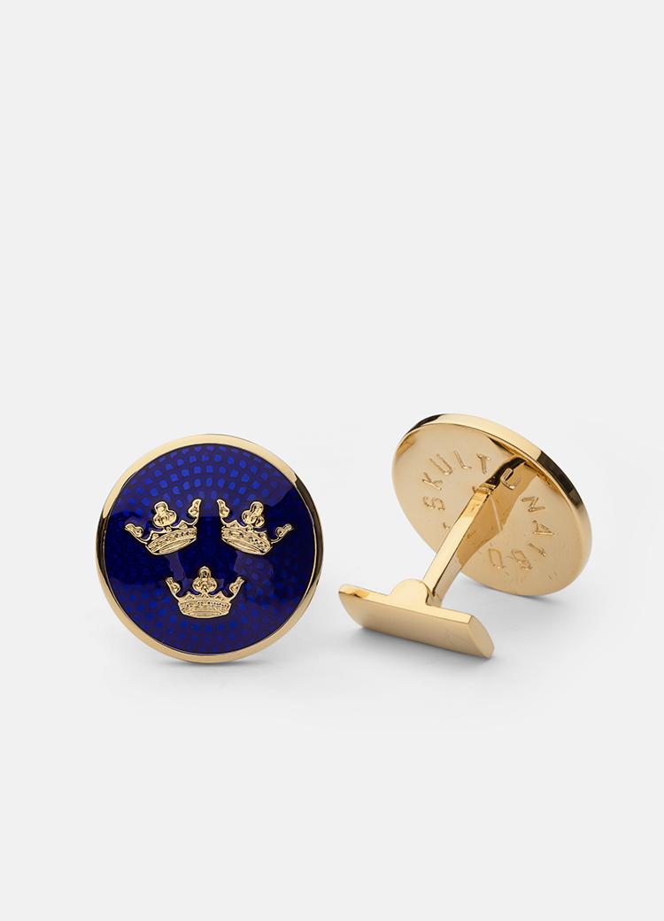 Sveriges Riksvapen Tre Kronor - Large Gold I Skultuna Messingsbruk 1607 9e00efdb193d7